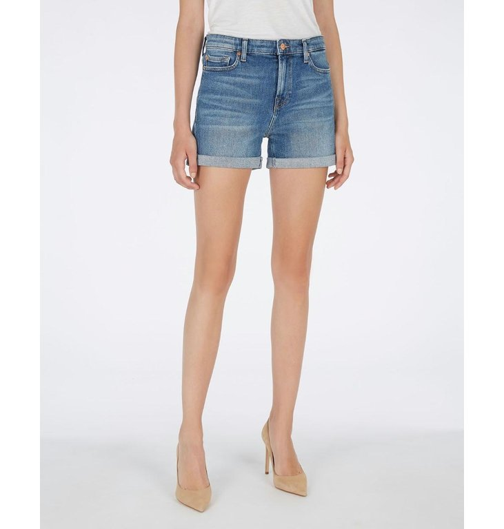 7 For All Mankind 7 For All Mankind Denim Blue Boy Shorts JSWUA500