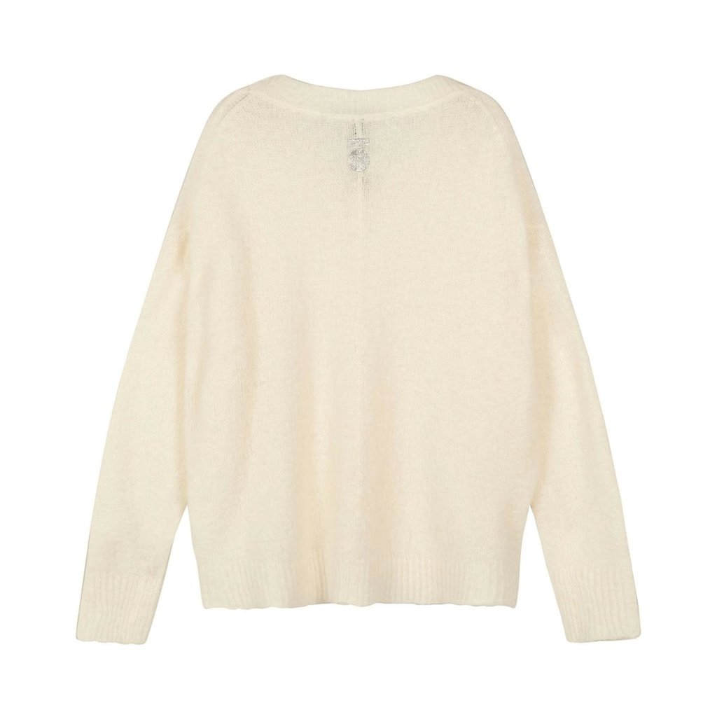10Days Ecru oversized sweater 20-601-1201