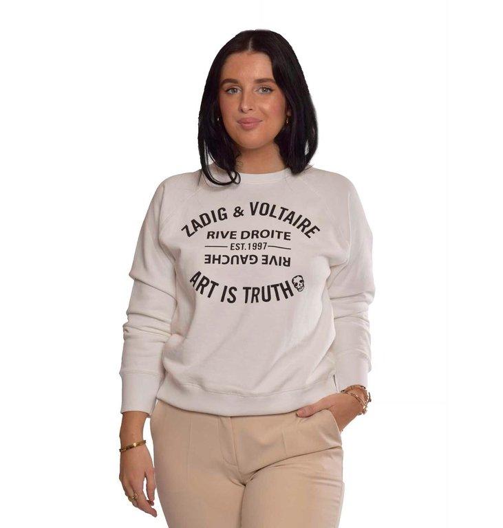 Zadig & Voltaire Zadig & Voltaire White Sweater Upper Blason
