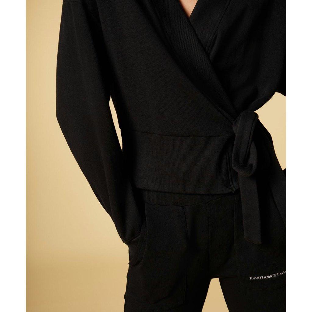 10Days Black kimono cardigan 20-850-1201