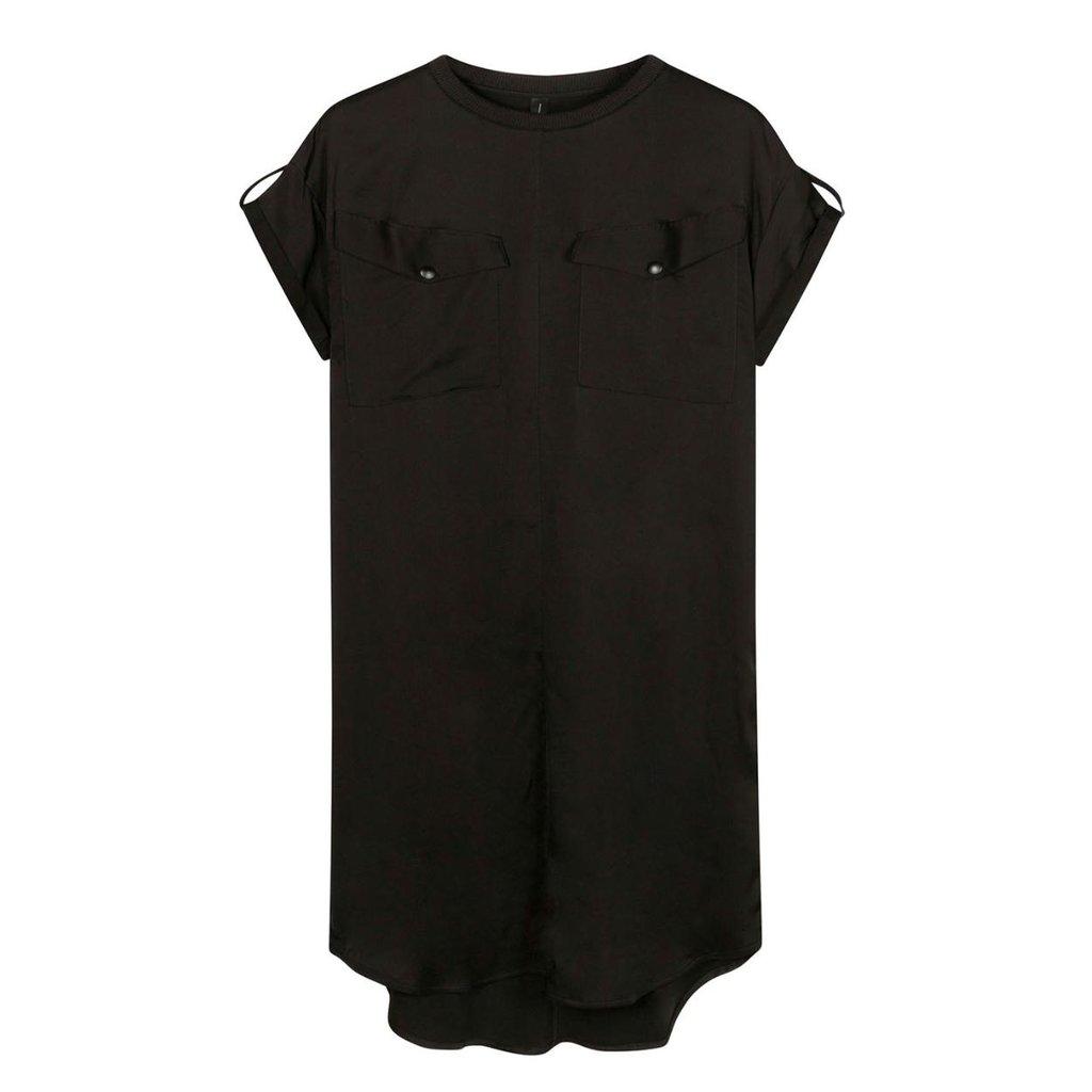10Days Black dress shiny 20-304-1201