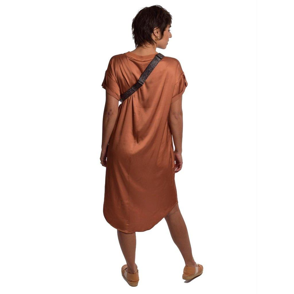 10Days Roest dress shiny 20-304-1201