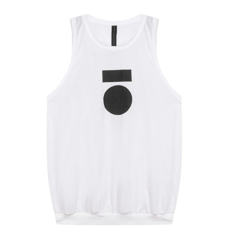 10Days 10Days White racerback top medal 20-457-1201