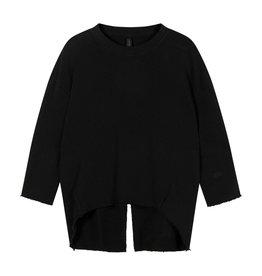 10Days 10Days Black sweater split 20-806-1201