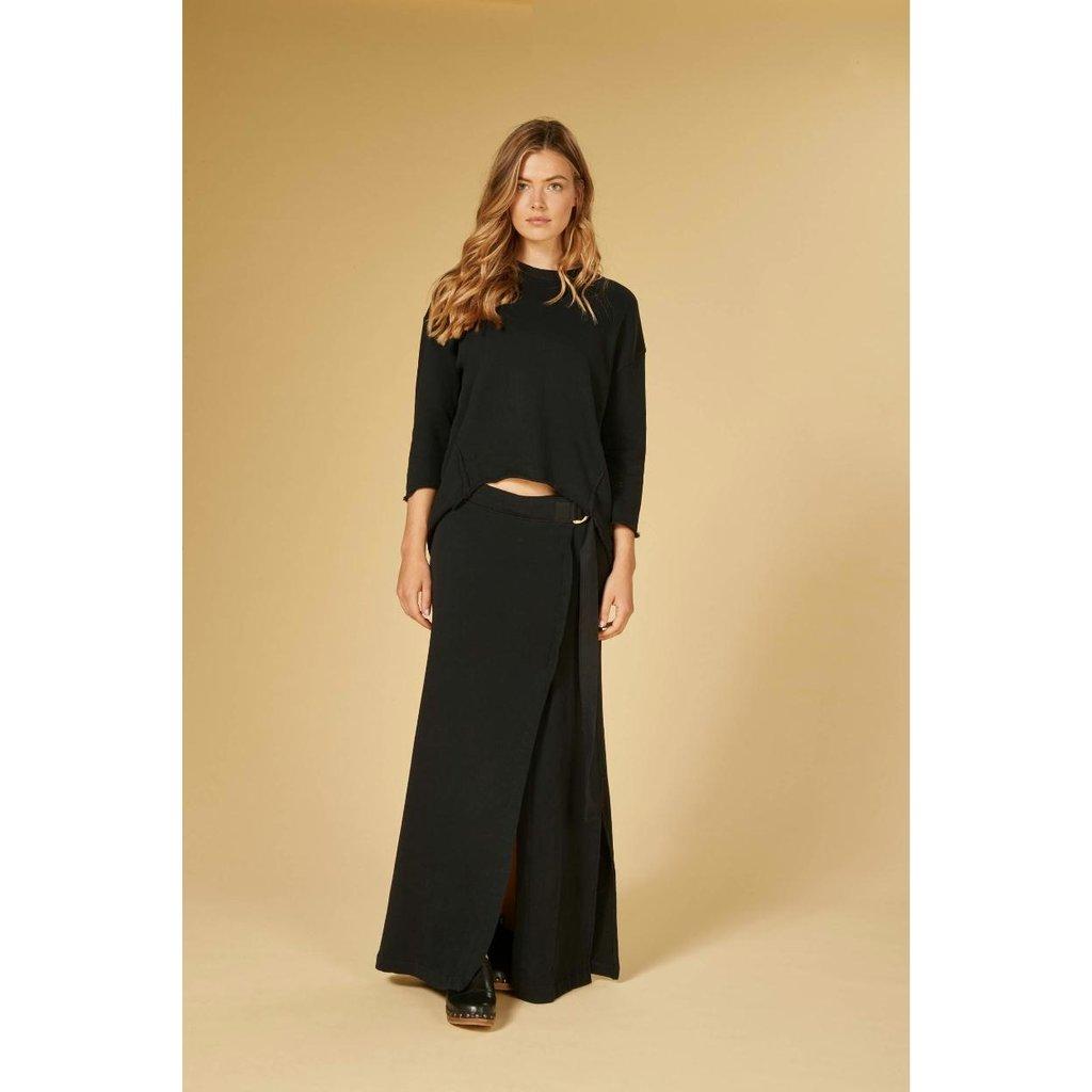 10Days Black sweater split 20-806-1201