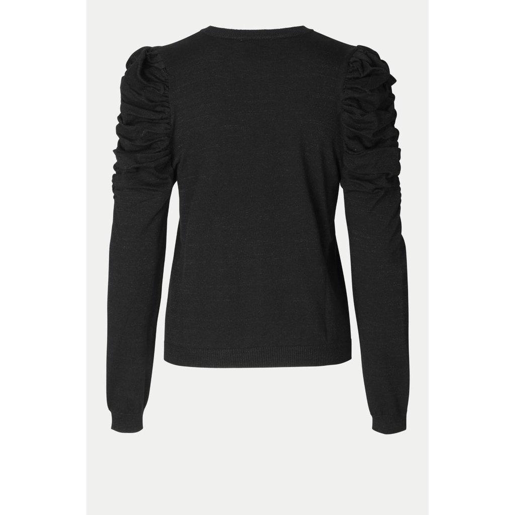 Second Female Black Ytta Knit Oneck 53874