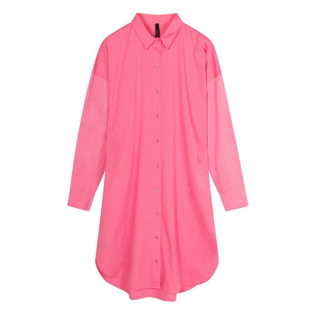 10Days Pink shirt dress 20-402-1201