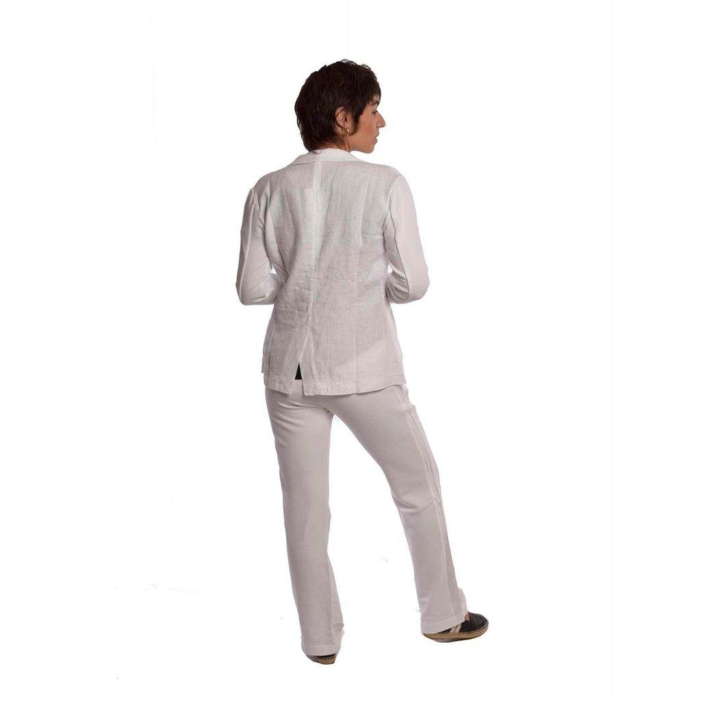 10Days Off White blazer linen 20-504-1201