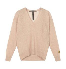 10Days 10Days Light Pink v-neck sweater alpaca 20-600-1201