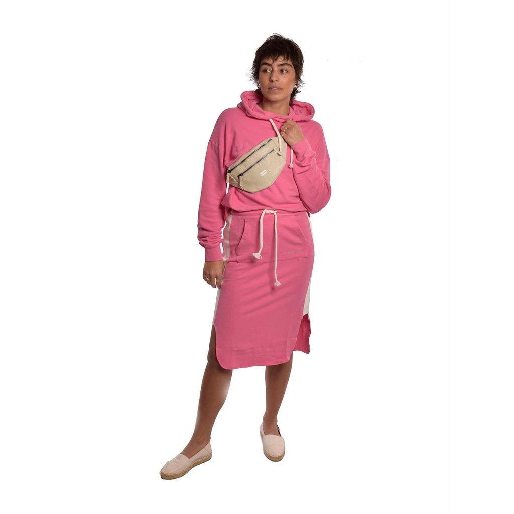 10Days Pink oversized hoodie logo 20-803-1201