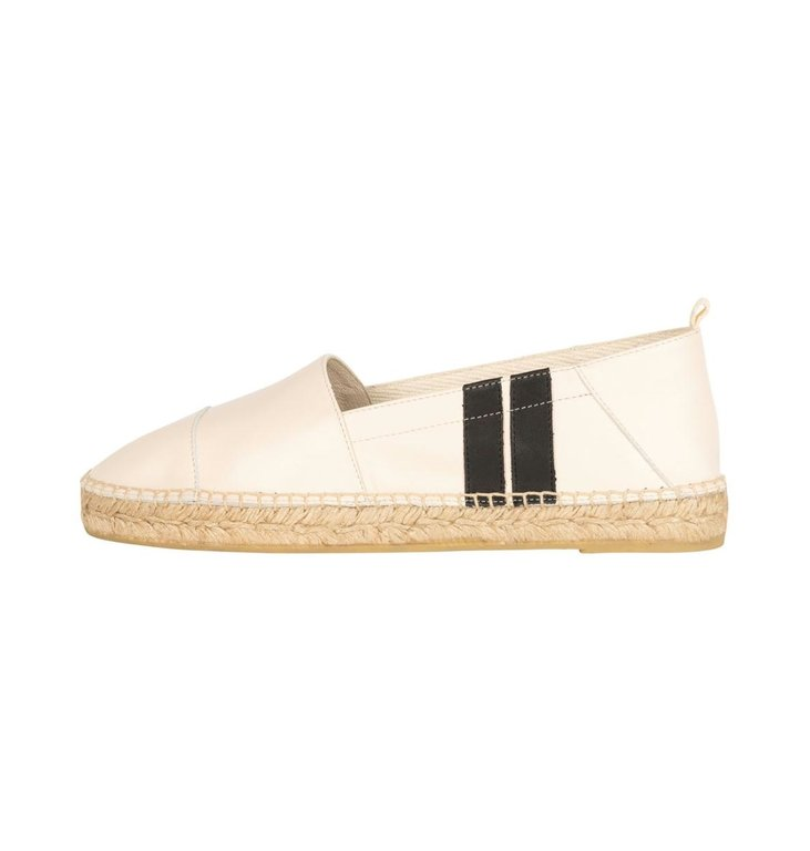 10Days 10Days Ecru espadrilles two stripe 20-932-1201