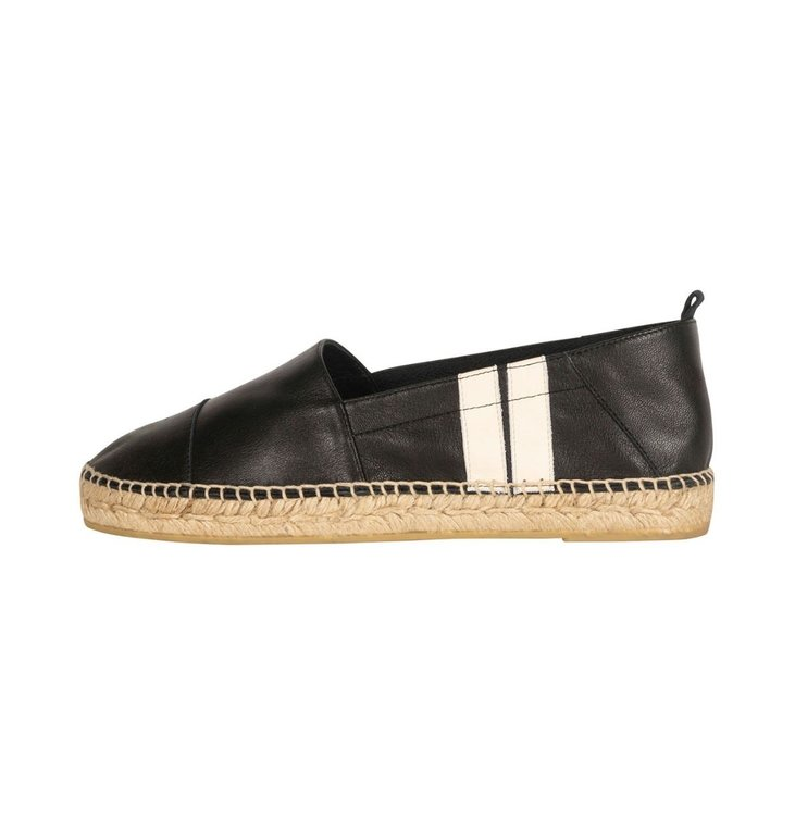 10Days 10Days Black espadrilles two stripe 20-932-1201
