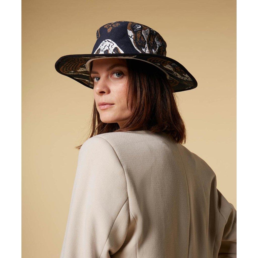 10Days Dark Grey Blue hat ethnic 20-924-1201