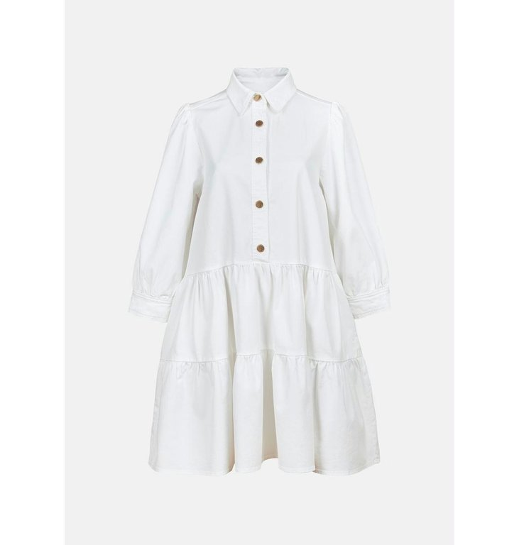 Essentiel Antwerp Essentiel Antwerp White Puffy Sleeve Shirtdress Zuniyi