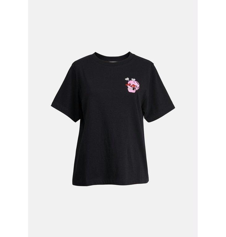 Essentiel Antwerp Essentiel Antwerp Black T-shirt With Embo Ziland
