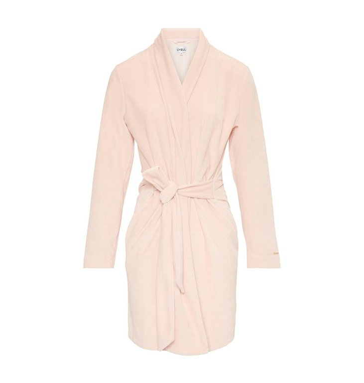 Cyell Night Cyell Night Soft Pink Velvet Badjas 130606