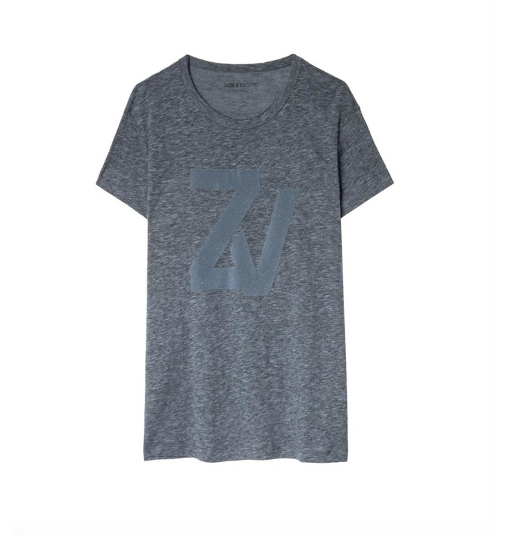 Zadig & Voltaire Zadig & Voltaire Blue T-shirt Walk Chine