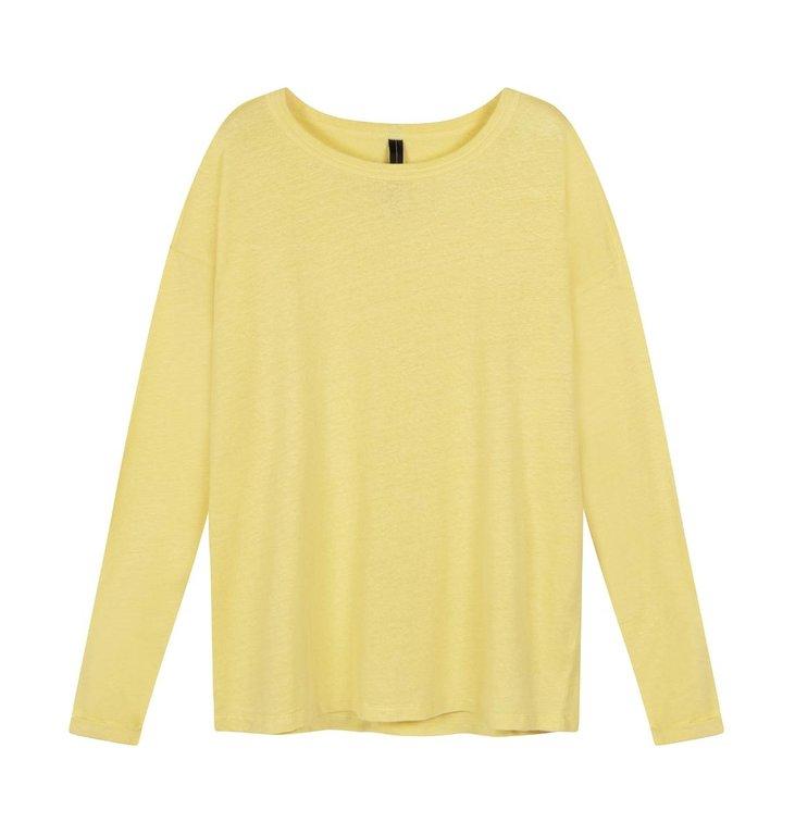 10Days 10Days Yellow longsleeve tee linen 20-778-1201