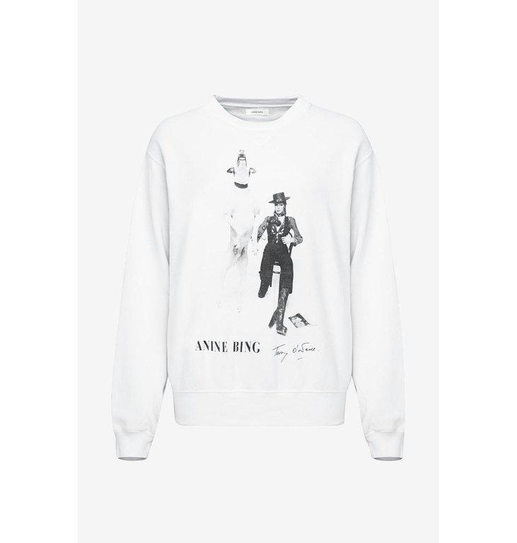 Anine Bing Anine Bing White Ramona Sweatshirt AB X to B A-08-5055-102