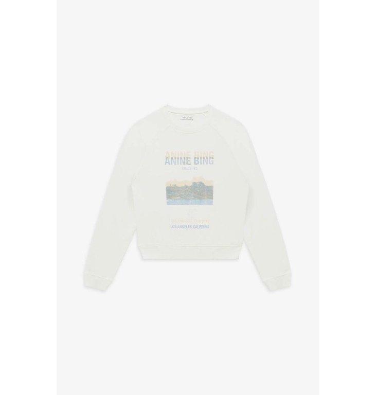 Anine Bing Anine Bing White Arlo Sweatshirt A-08-5187-150