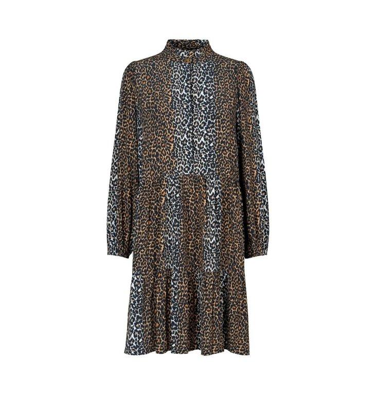 Notes du Nord Notes du Nord Leopard Taylor Leopard Short Dress 12129