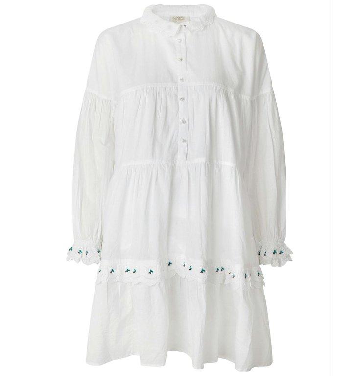 Notes du Nord Notes du Nord White Tenna Dress 12210