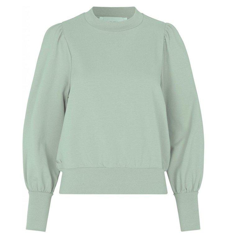 Notes du Nord Notes du Nord Mint Green Oxford Sweatshirt 12153