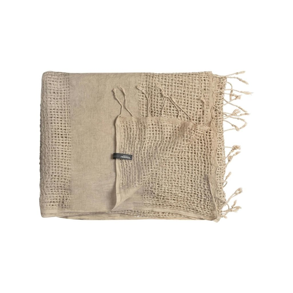 10Days Taupe scarf basket weave 20-916-1201