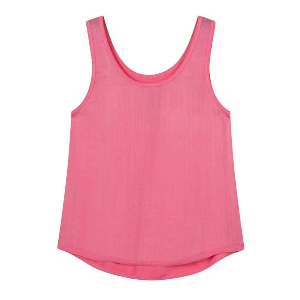 10Days Pink strappy top silk fleece 20-456-1201