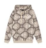 10Days Grey hoodie Ethnic Tonal 20-814-1201