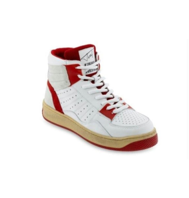 Toral Shoes Toral Shoes White/Red Sneakers Basket TL12406