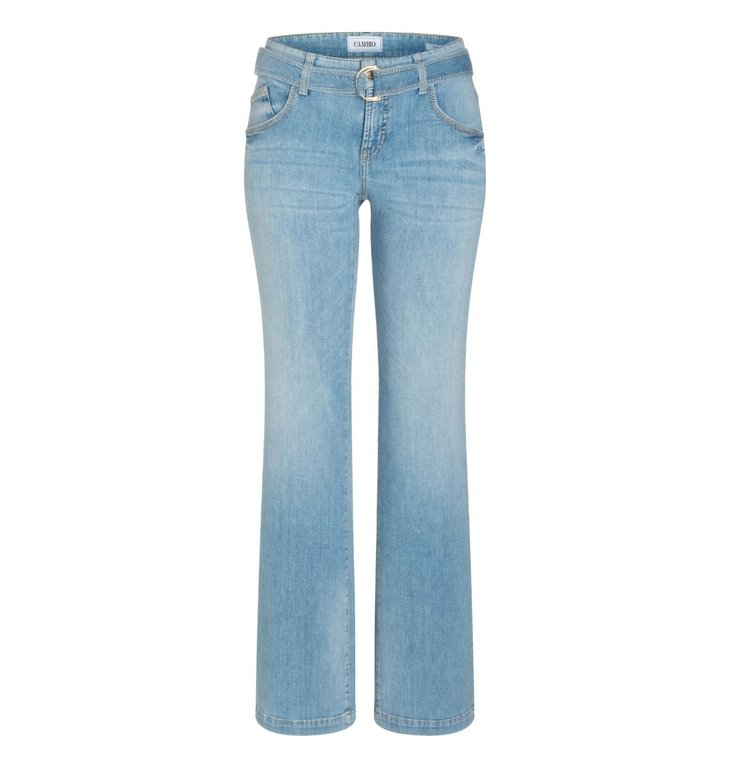 Cambio Cambio Denim Seablue Wash Tess Wide Leg Jeans 9150-0014-00