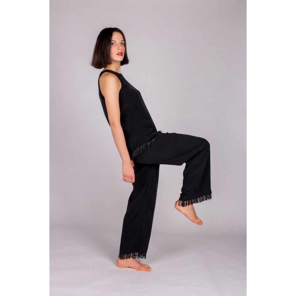 Hays Vegan Black Pants Cupro 60025-B91