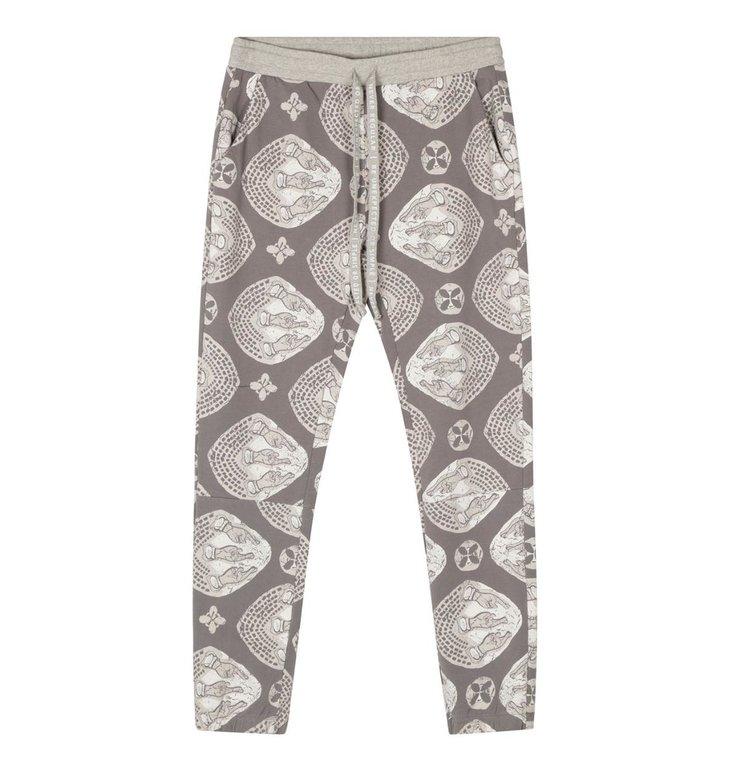 10Days 10Days Grey cropped joger ethnic tonal 20-002-1201