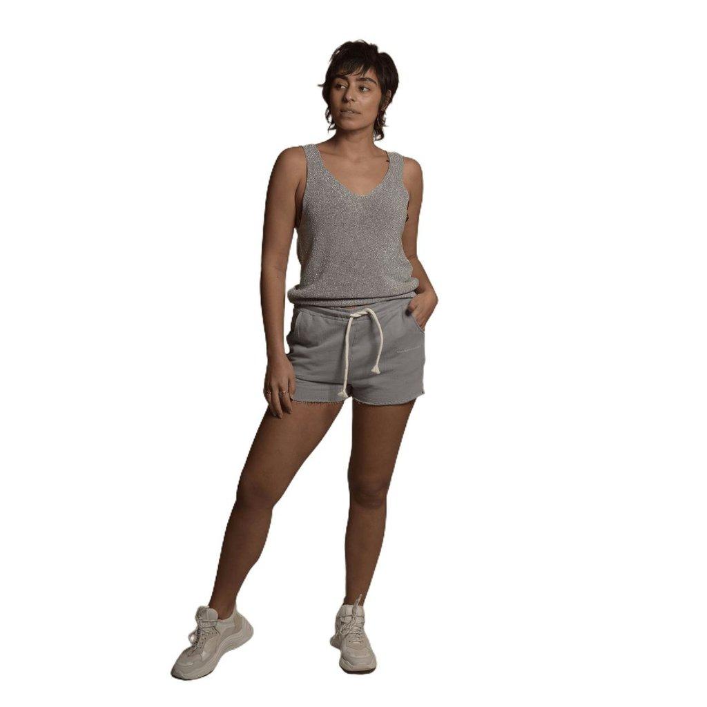 10Days Blue shorts fleece 20-206-1201