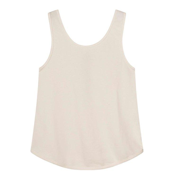 10Days 10Days Off White strappy top silk fleece 20-456-1201