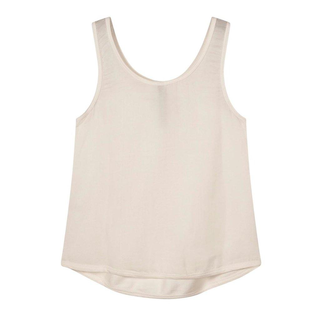 10Days Off White strappy top silk fleece 20-456-1201
