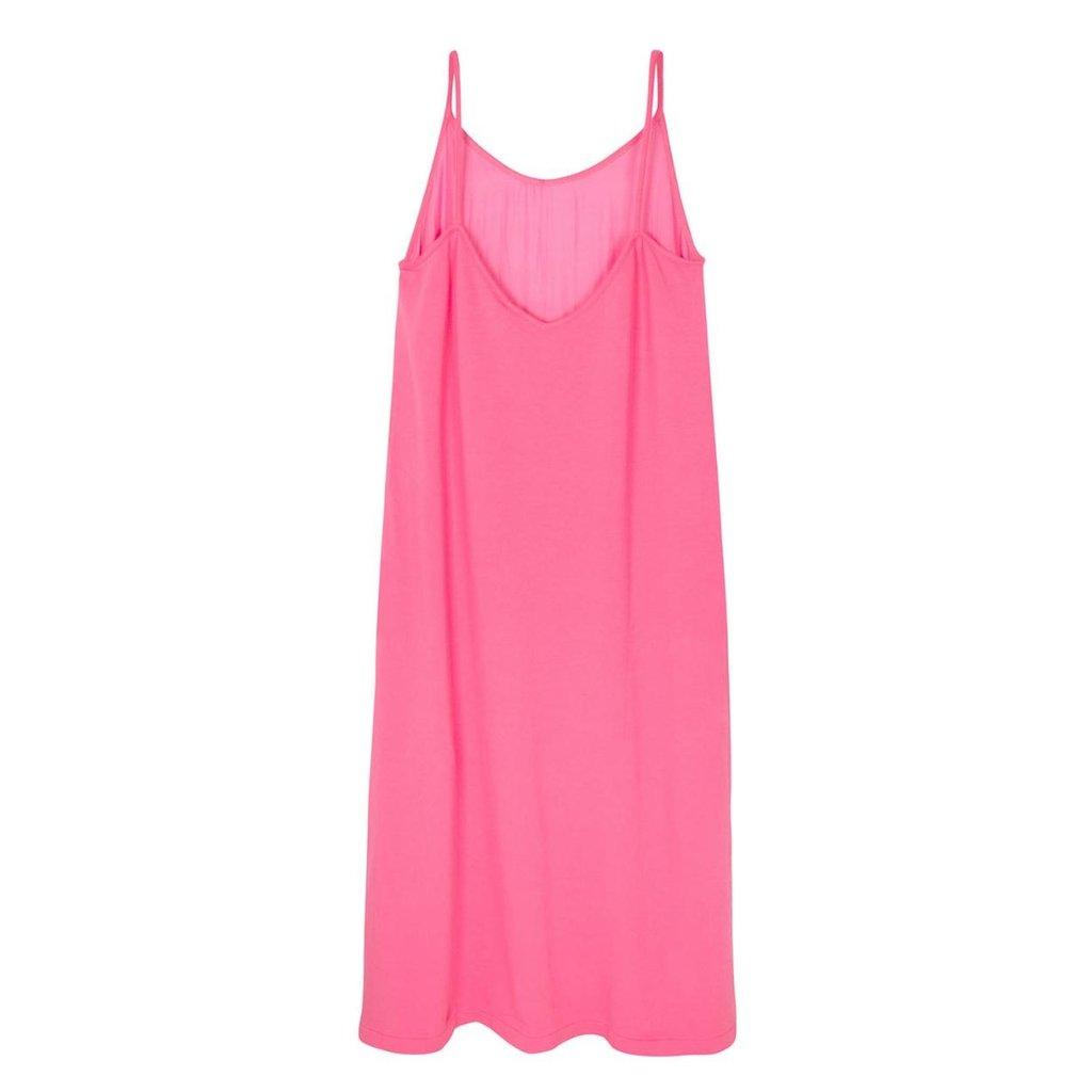 10Days Pink strappy dress silk fleece 20-306-1201