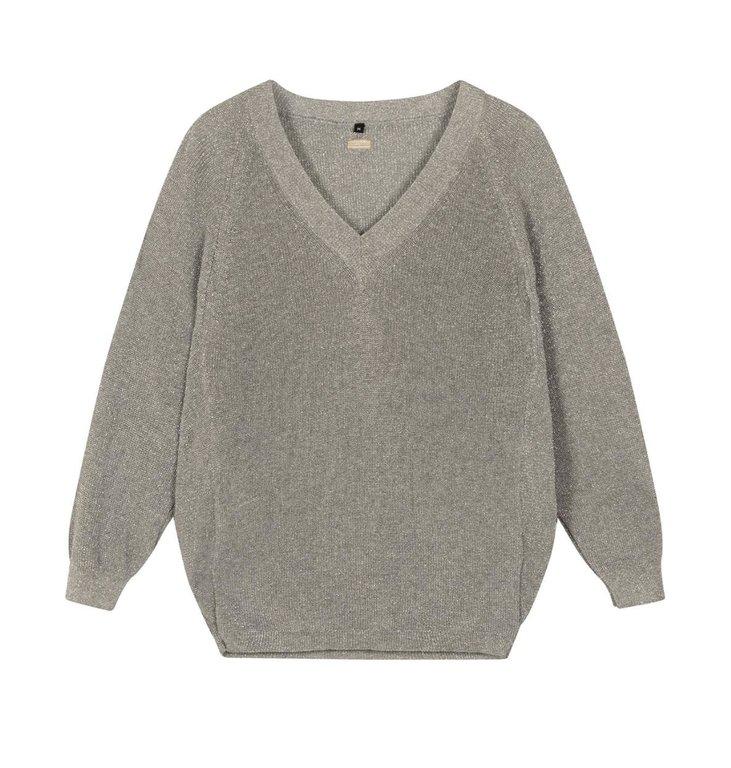 10Days 10Days Silver thin sweater lurex 20-618-1201