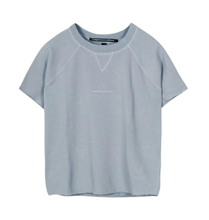 10Days 10Days Blue sleeveless sweater logo 20-804-1201