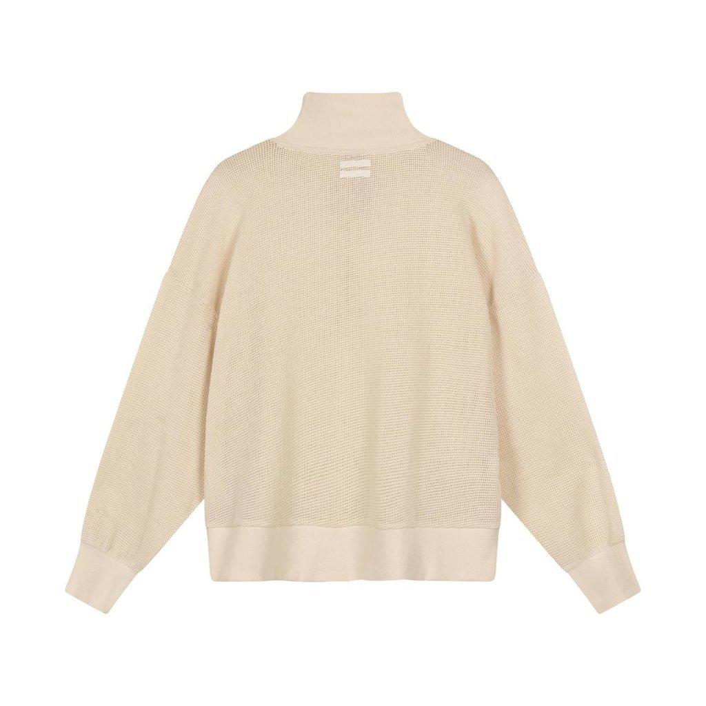10Days Sand high neck sweater mesh 20-809-1201