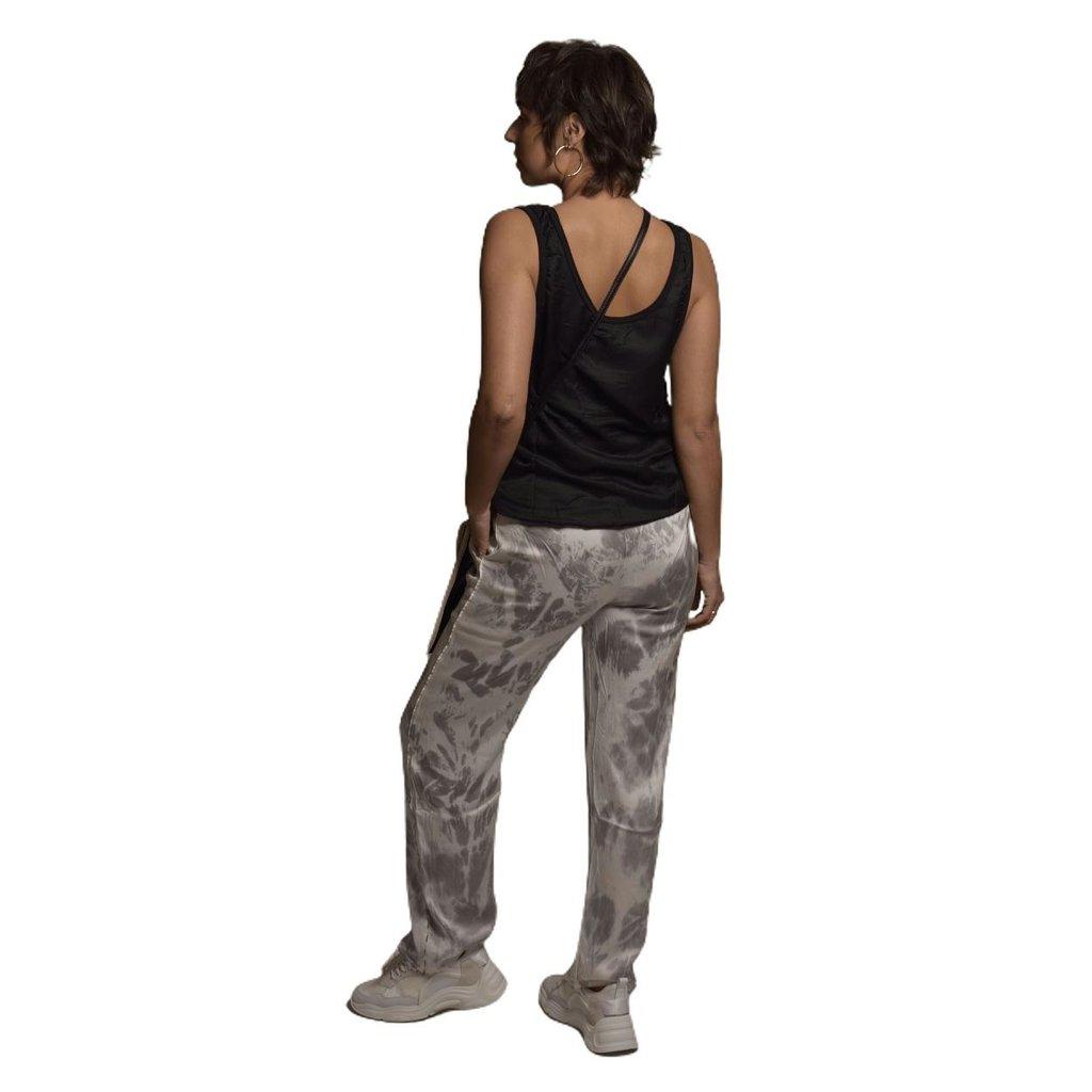 10Days Black strappy top silk fleece 20-456-1201