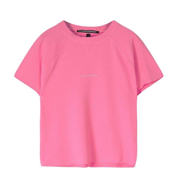 10Days 10Days Pink sleeveless sweater logo 20-804-1201