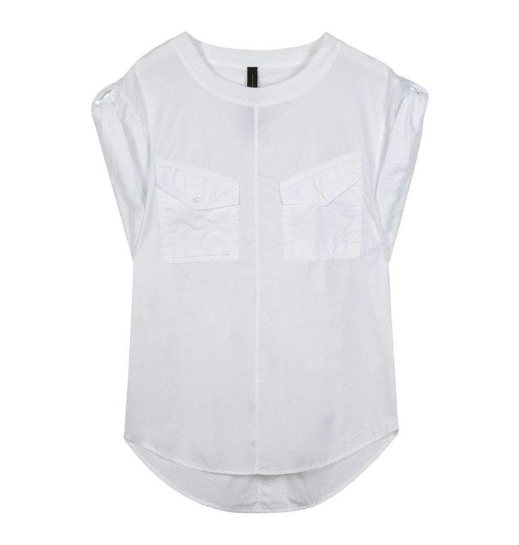 10Days 10Days White shortsleeve blouse twill 20-406-1201