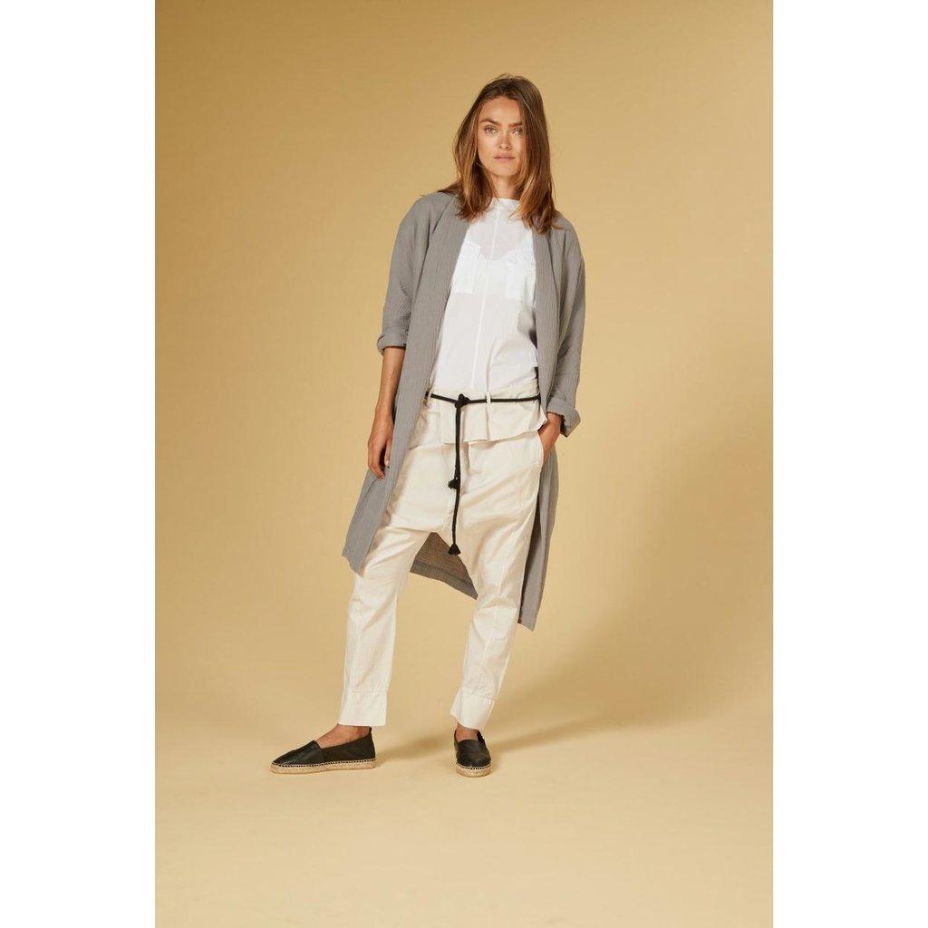 10Days White shortsleeve blouse twill 20-406-1201