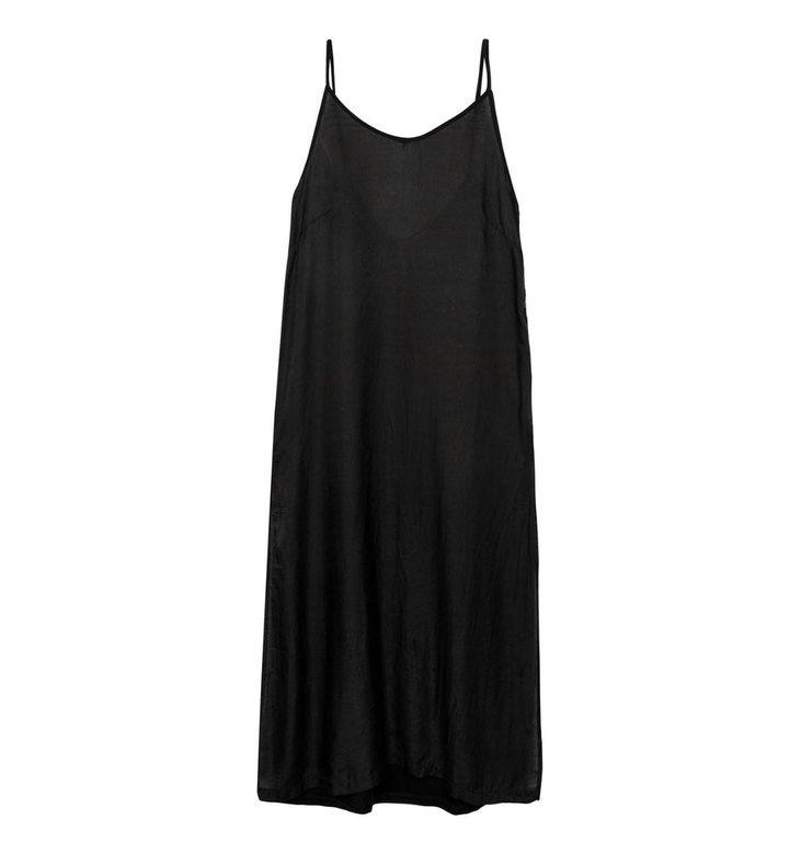 10Days 10Days Black strappy dress silk fleece 20-306-1201