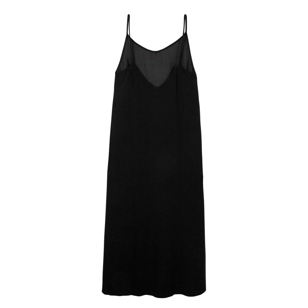 10Days Black strappy dress silk fleece 20-306-1201