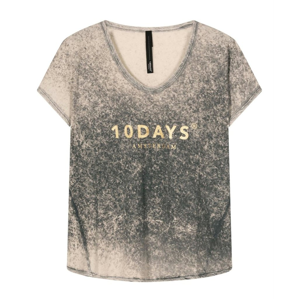 10Days Grey tee fade out 20-751-1201