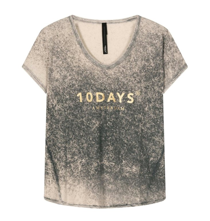 10Days 10Days Grey tee fade out 20-751-1201