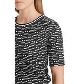 Marc Cain Black/White T-shirt QS4838-J19